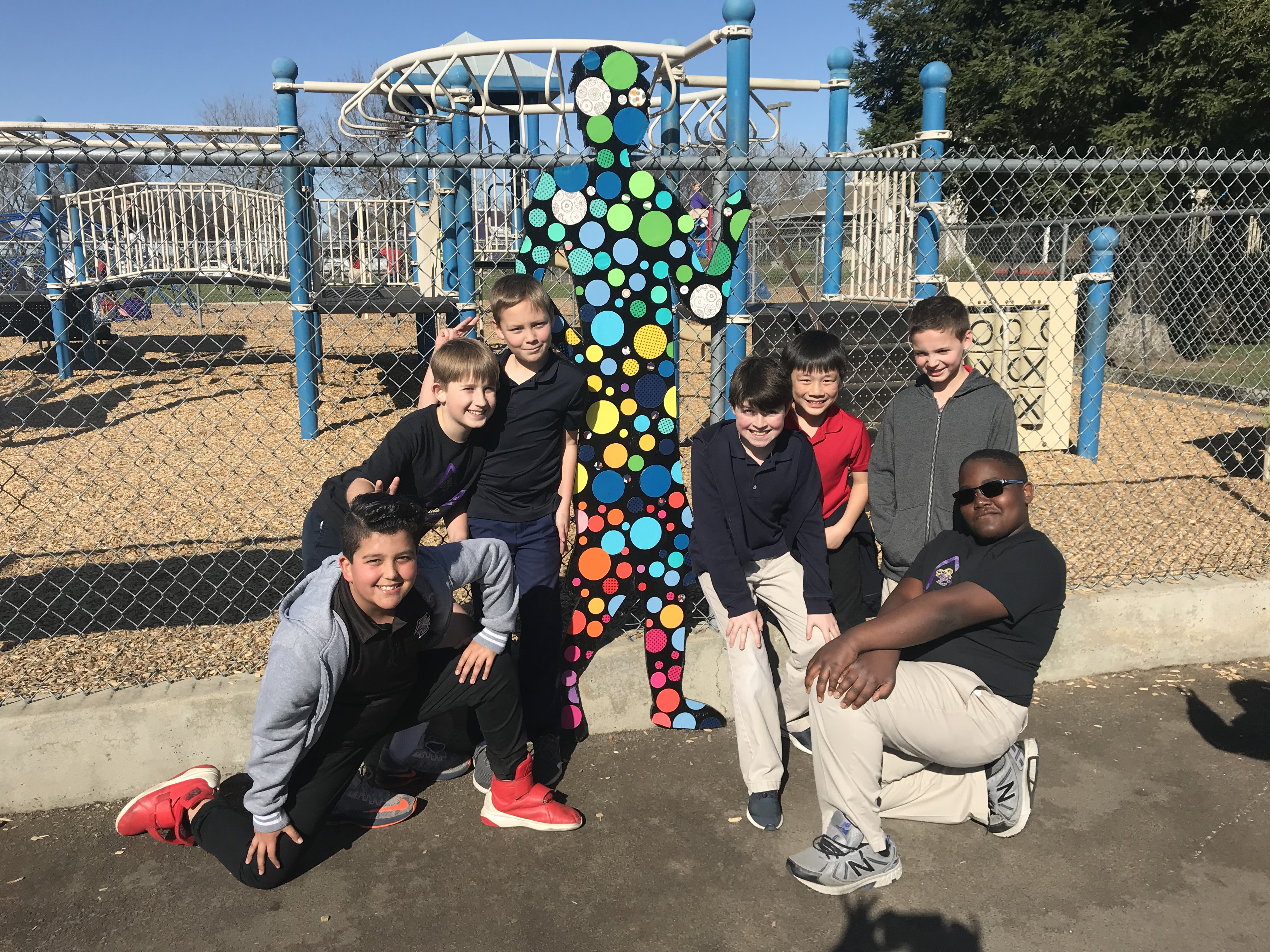 Elementary Recess Gets Colorful
