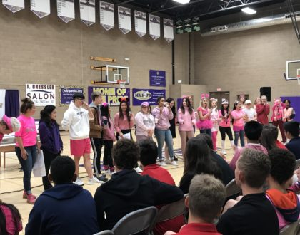 "Eighth Grade Shadow Day Meets ""Pink Out"" Day"